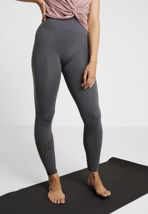STRIPE LEGGINGS - Leggings - metal/grey