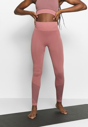 STRIPED SEAMLESS - Leggings - anemone