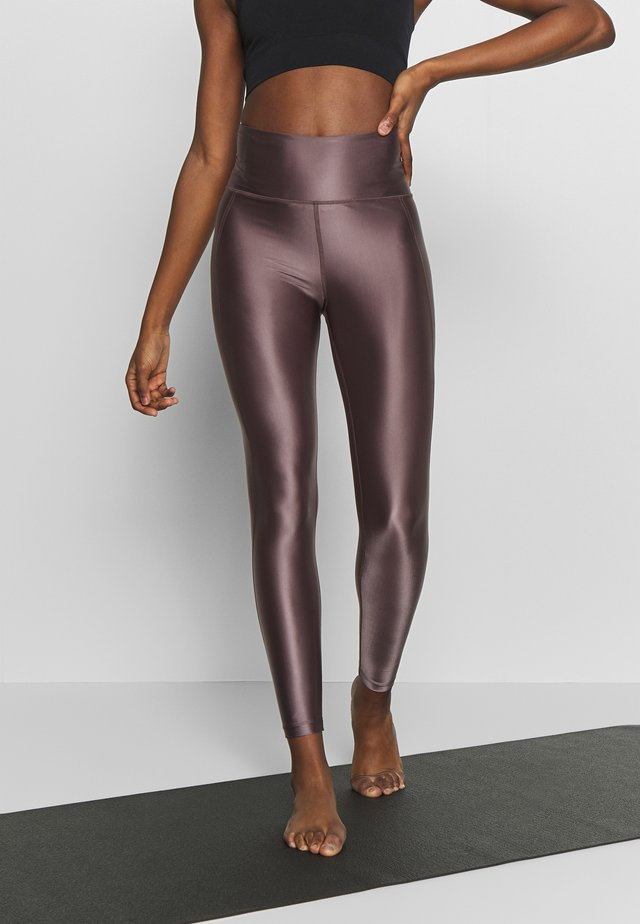 CROPPED GLOSS LEGGING - Tights - mauve