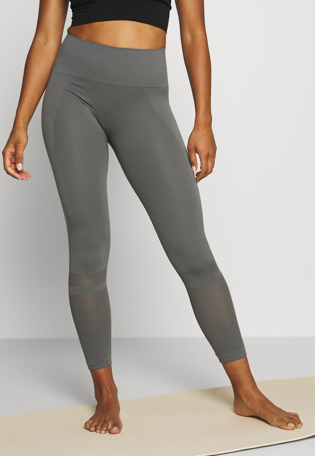 LEGGINGS - Leggings - green/grey