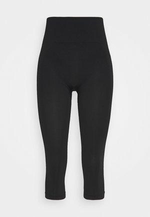 CROPPED SEAMLESS LEGGING - 3/4 sportsbukser - black