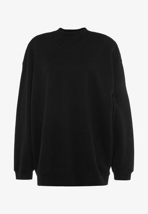 OVERSIZED  - veste en sweat zippée - black