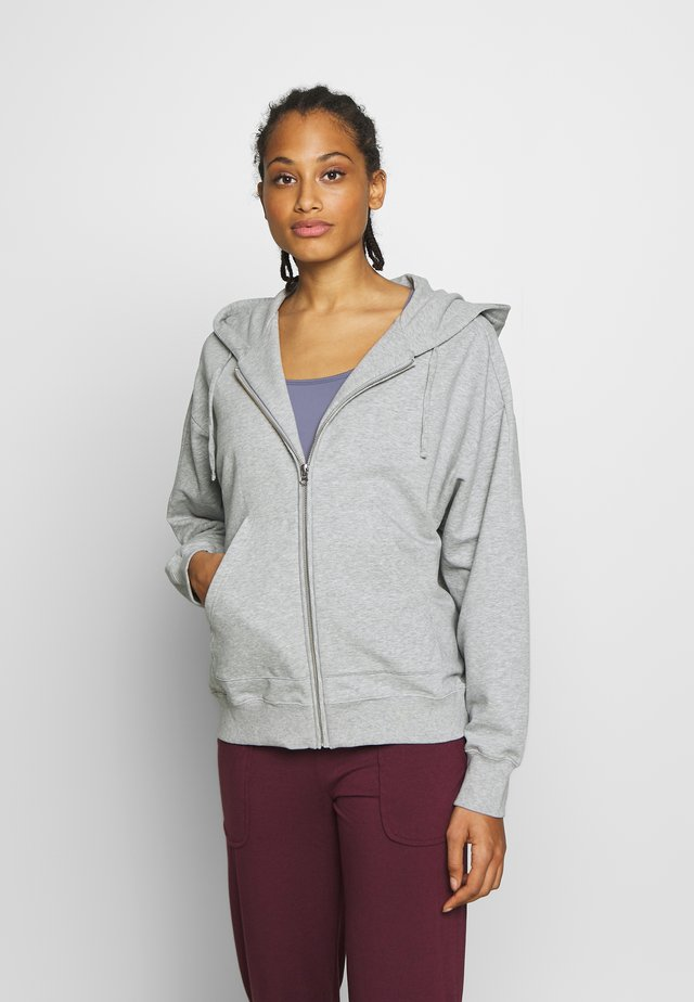 ZIP HOODIE - Zip-up hoodie - light grey