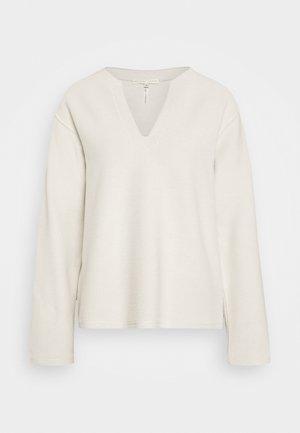 REVERSED SPLIT - Sweatshirt - ivory