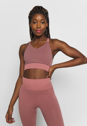 STRIPED SEAMLESS TOP - Sport BH - anemone/mauve