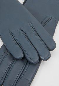 Filippa K - ZIP GLOVES - Gloves - blue slate - 4