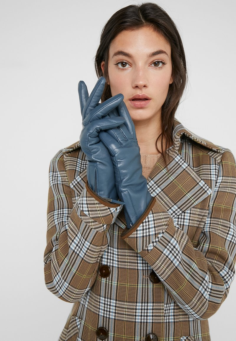 Filippa K - ZIP GLOVES - Gloves - blue slate