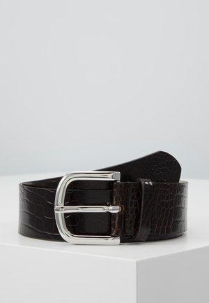 WIDE BELT - Belt - dark brown