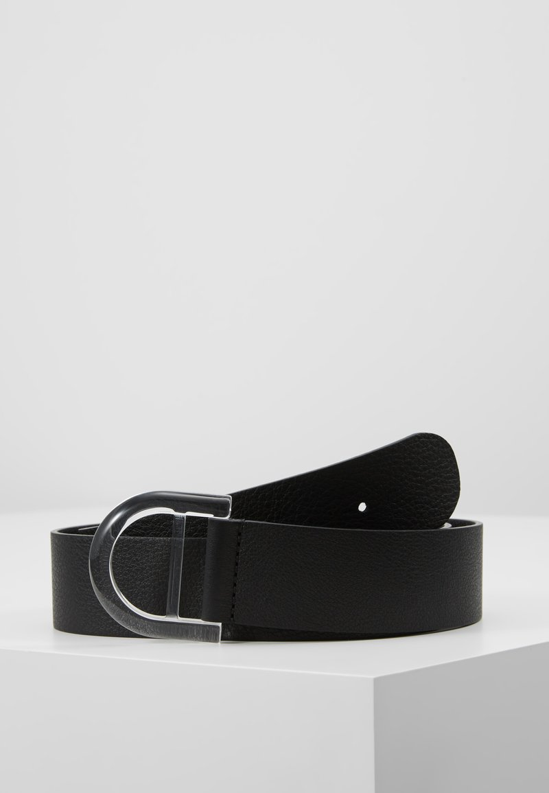 Filippa K - D RING BELT - Pásek - black