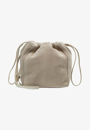 LENA SOFT BUCKET BAG - Across body bag - ligth taupe