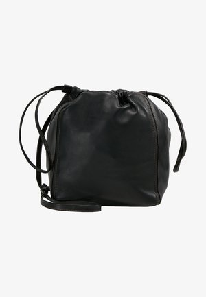 LENA SOFT BUCKET BAG - Skuldertasker - black