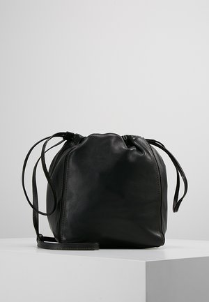 LENA SOFT BUCKET BAG - Across body bag - black