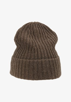 MATT RECYCLED CASHMERE BEANIE - Pipo - grey taupe melange