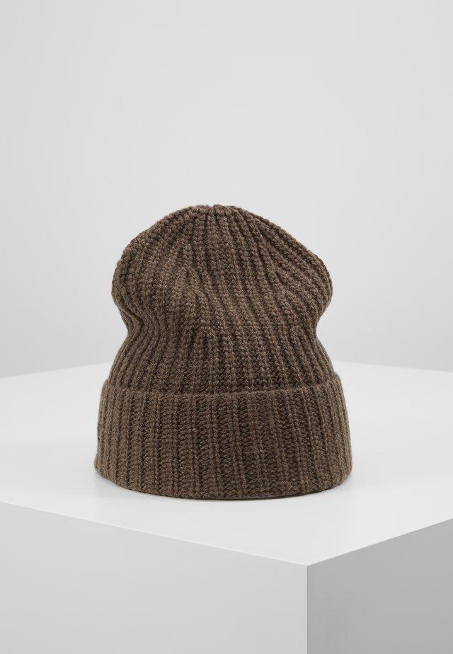MATT RECYCLED CASHMERE BEANIE - Mütze - grey taupe melange