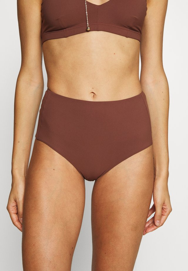 HIGH BRIEF - Bikini bottoms - burnt rose