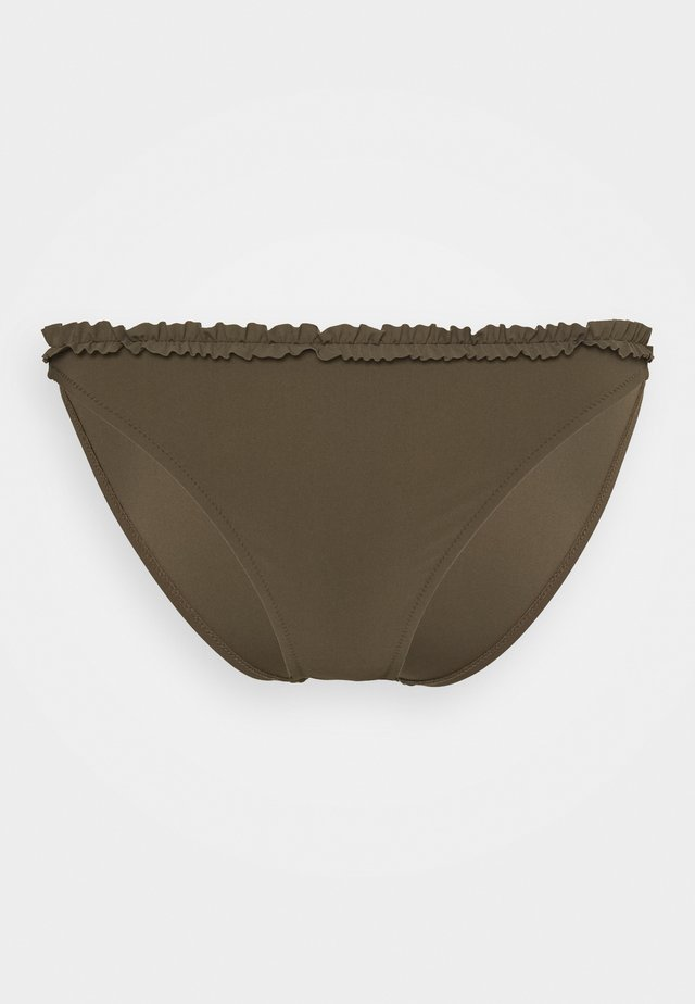 FRILL HIGH CUT BRIEF - Bikiniunderdel - olive