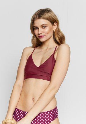 CROSS BACK - Bikini top - pure red