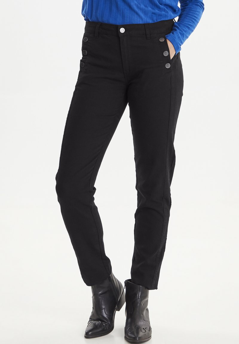 Fransa - FRFASNAP  - Trousers - black