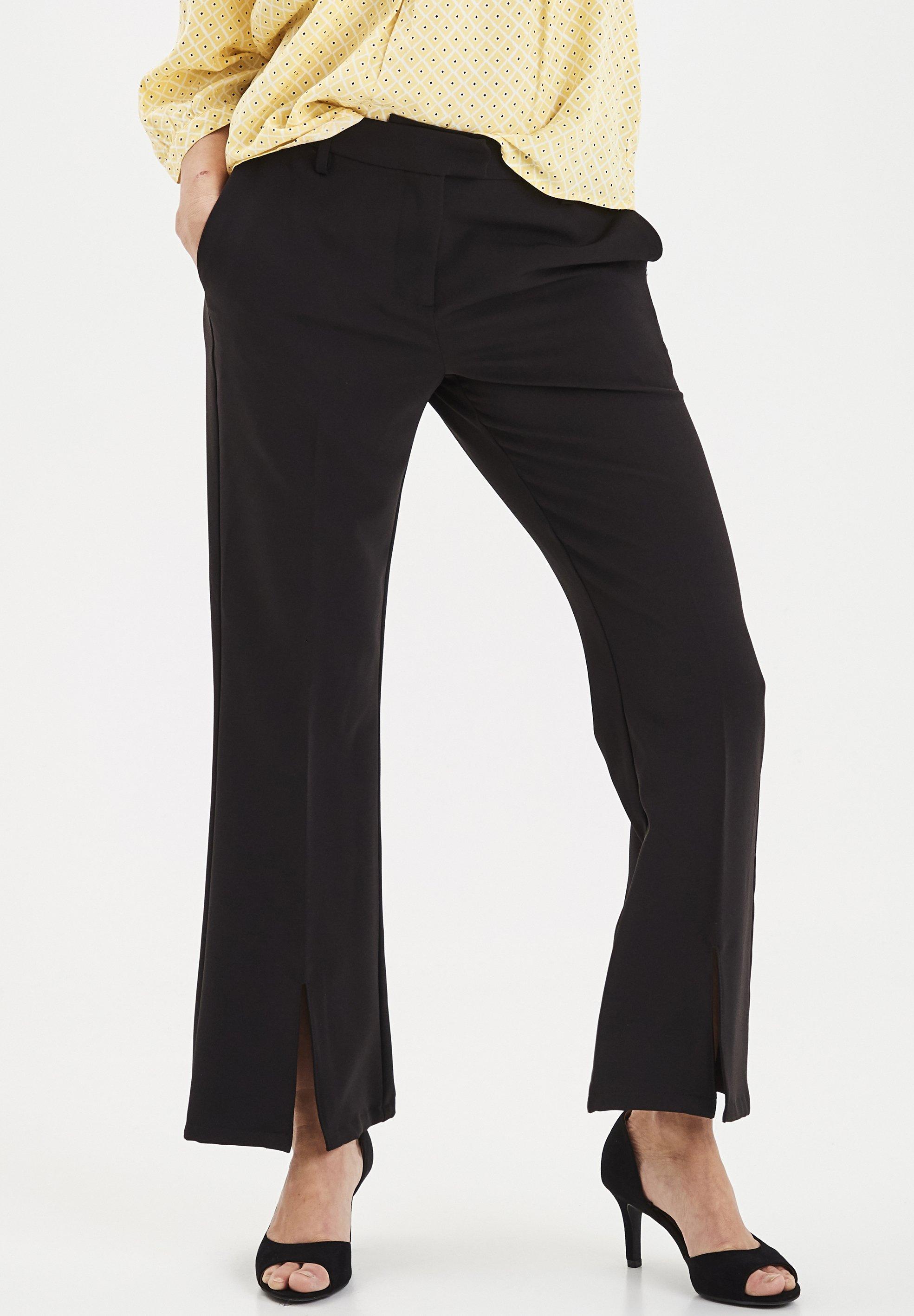 Fransa Spodnie materiałowe - black