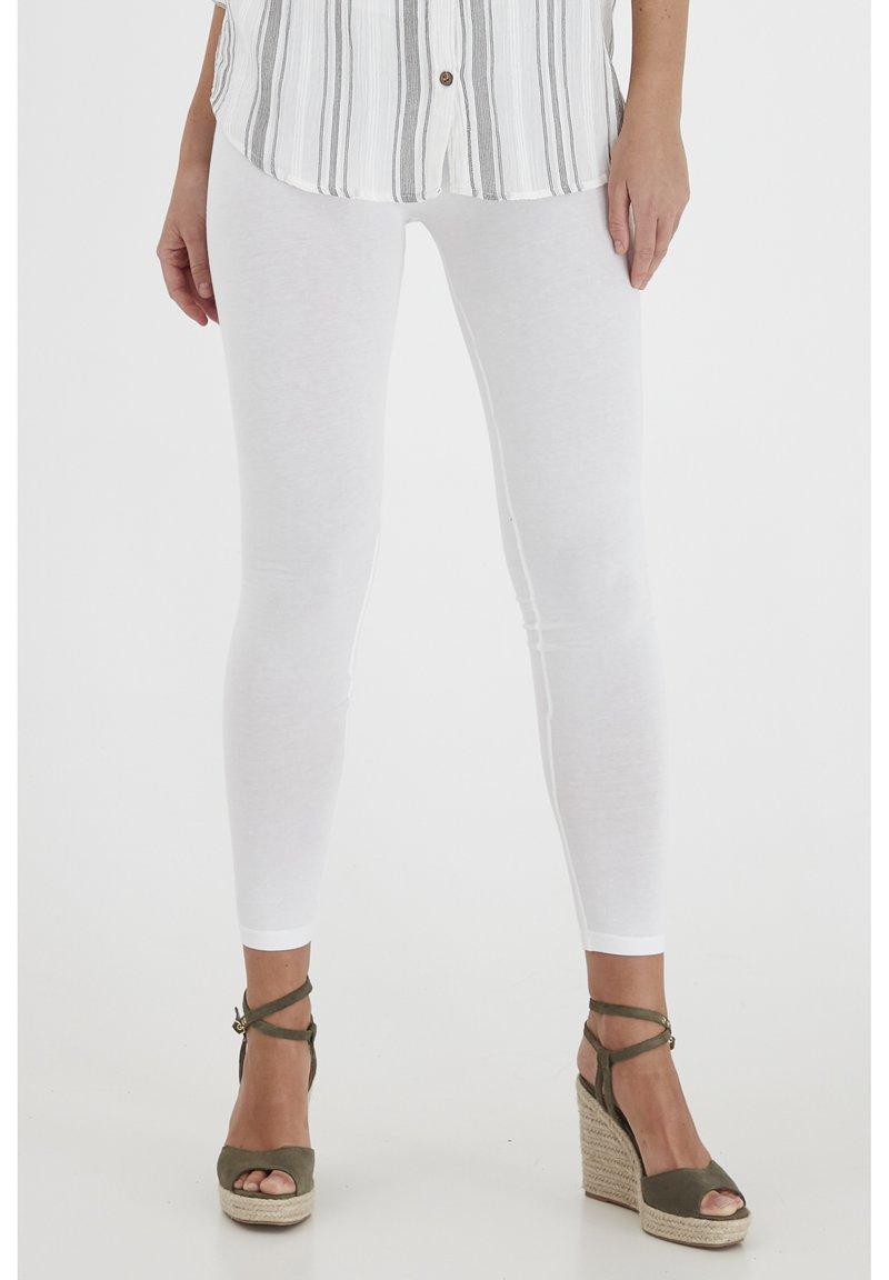 Fransa - FRANSA KOKOS 1 LEGGINGS - Leggings - (noos) white