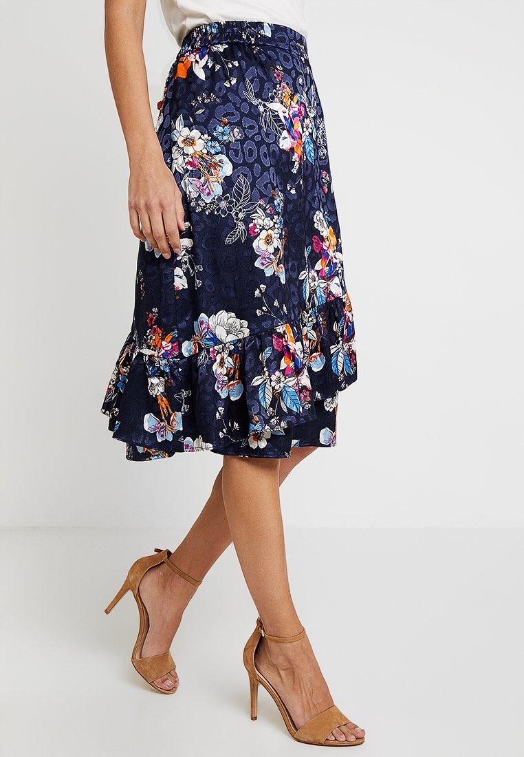 Fransa - SKIRT - Áčková sukně - maritime blue mix