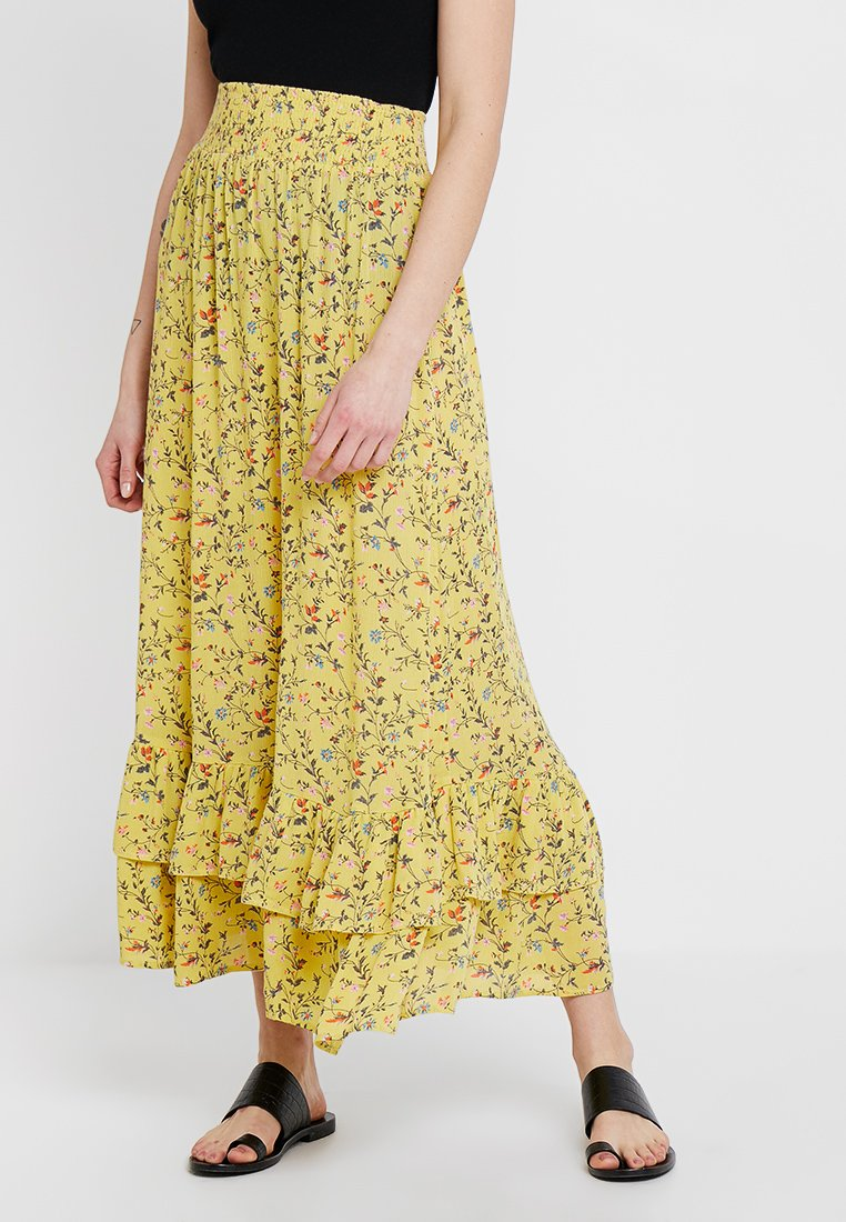 Fransa - FRCACREPE SKIRT - Maxirock - lemon zest mix