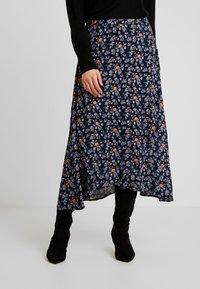 Fransa - FRESCOUNTRY SKIRT - Wrap skirt - black mix - 0