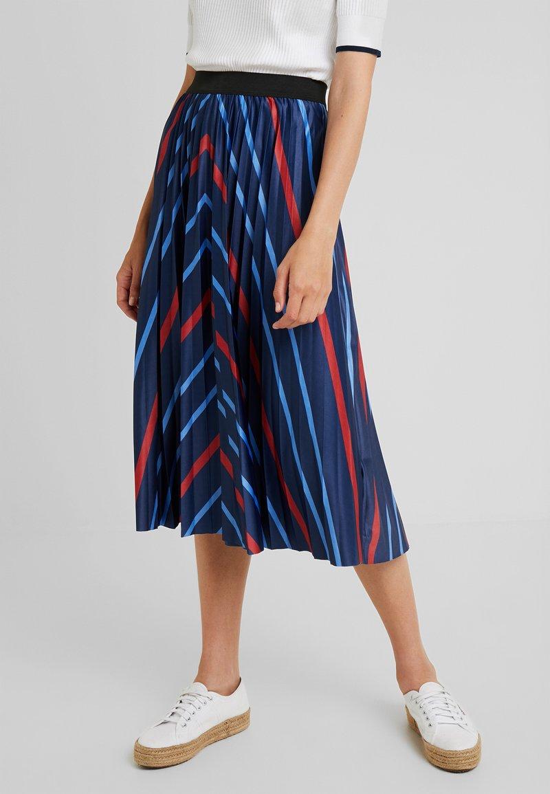 Fransa - FREMGRAFIC SKIRT - Áčková sukně - maritime blue mix