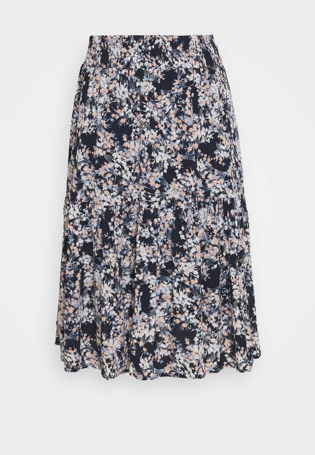 JASOFTY SKIRT - A-snit nederdel/ A-formede nederdele - navy blazer/mix