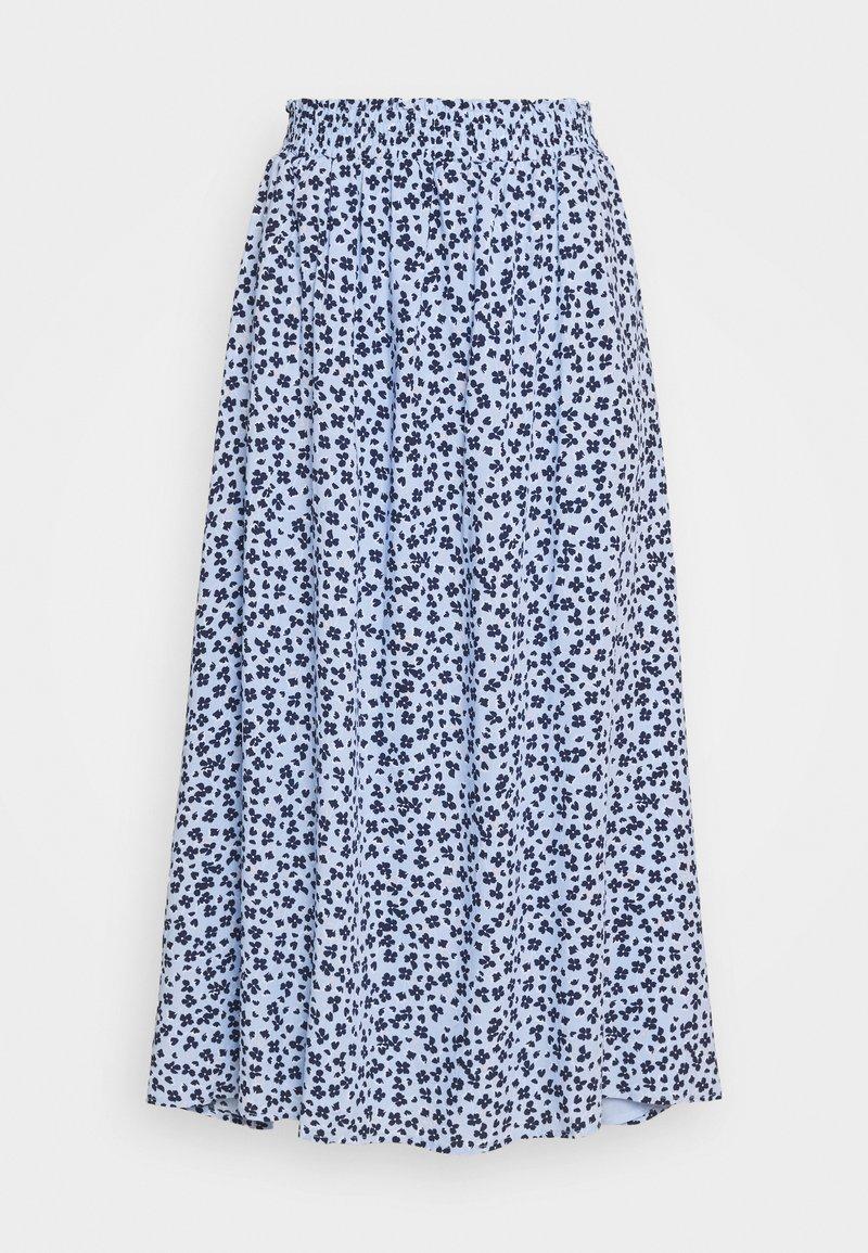 Fransa - FRJAPETITE SKIRT - Maxi sukně - placid blue mix