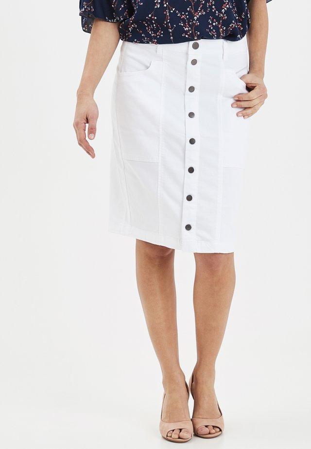 FRIVTWILL - Blyantnederdel / pencil skirts - white