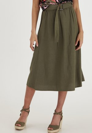 FRJAHAY - A-line skirt - hedge
