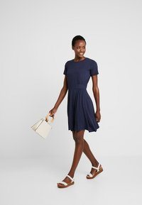Fransa - FREMDOTTON DRESS - Jersey dress - maritime blue mix - 1