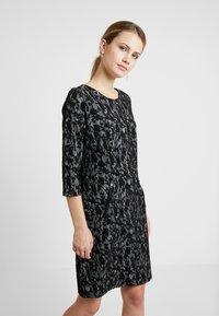 Fransa - DRESS - Jerseykjole - black mix - 0
