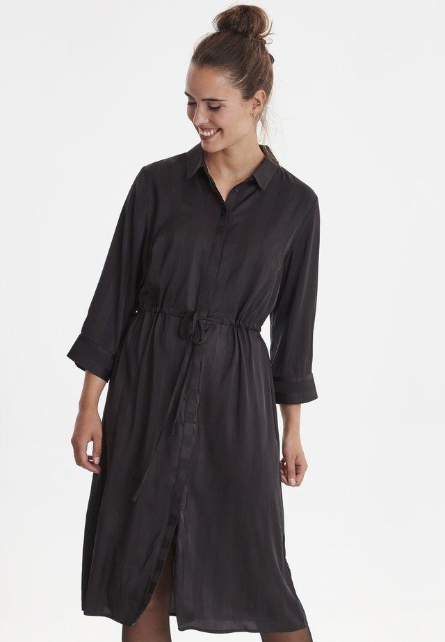 FXSUSTRIPE - Shirt dress - black