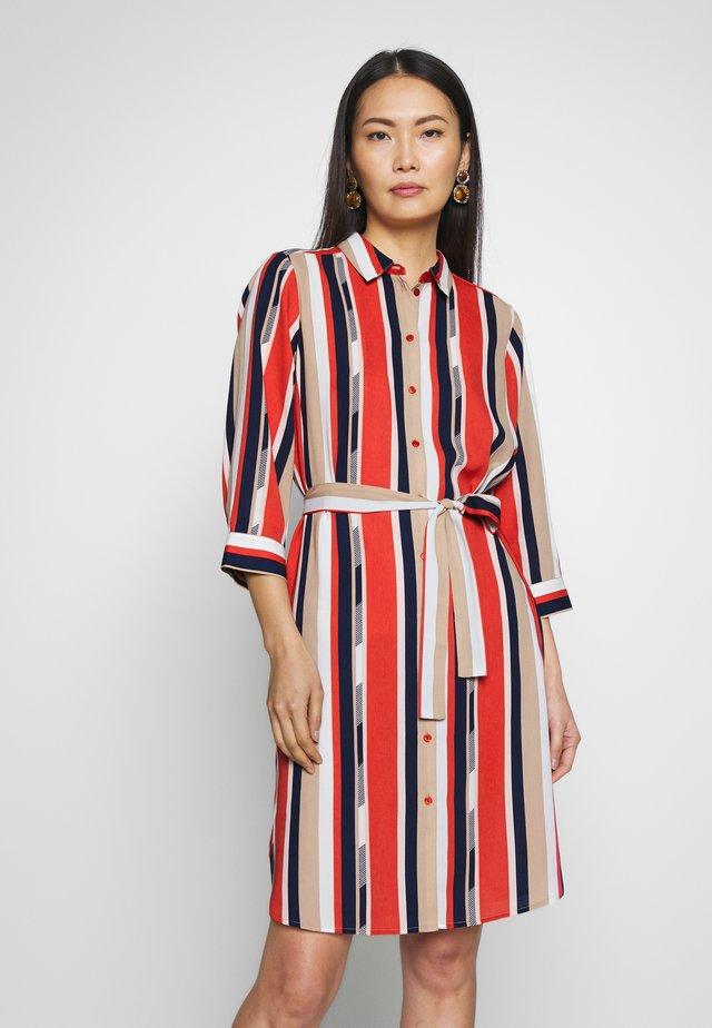 FRHASTRIPE DRESS - Shirt dress - baked apple mix