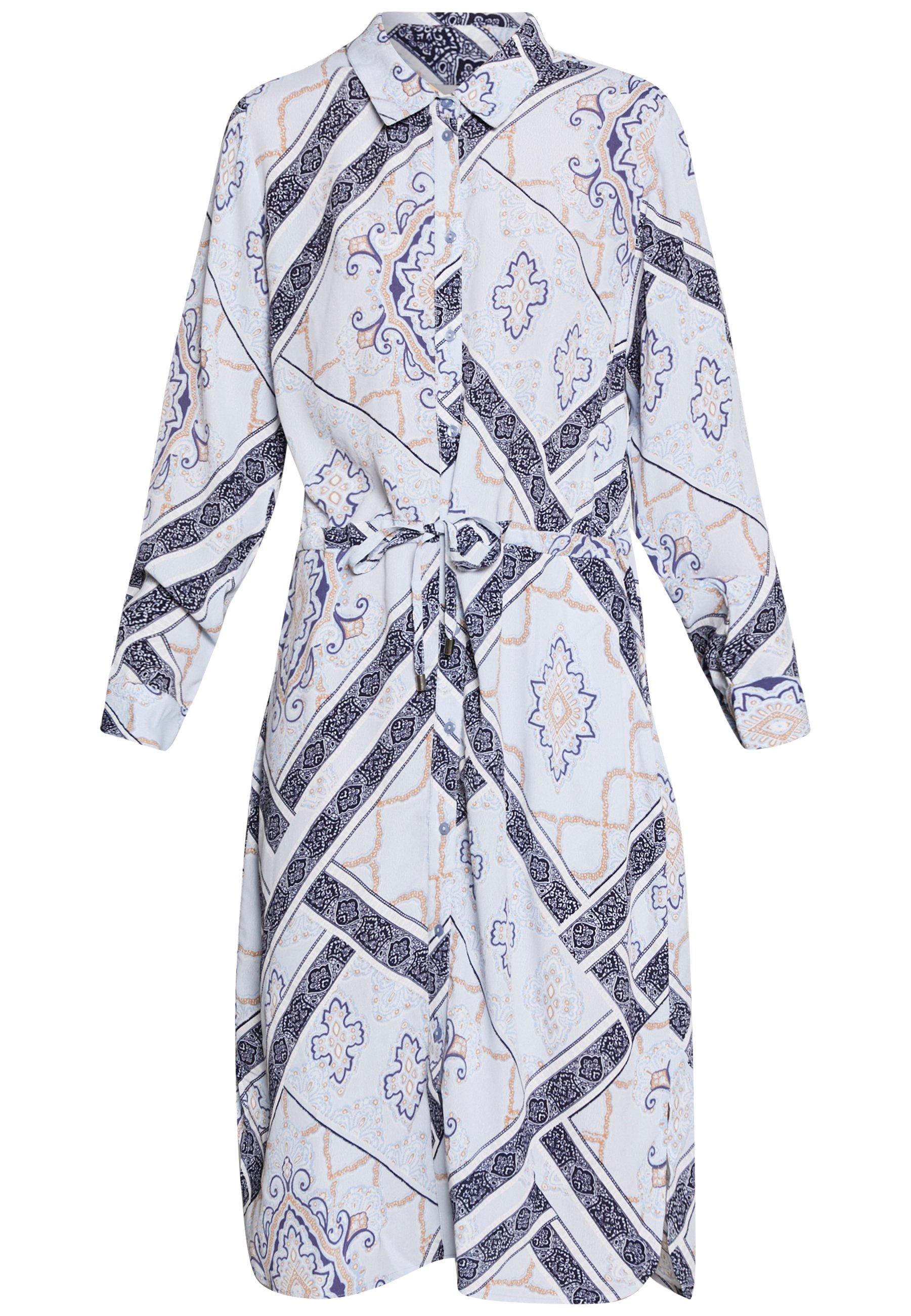 Fransa Frhascarf Dress - Skjortklänning Brunnera Blue Mix
