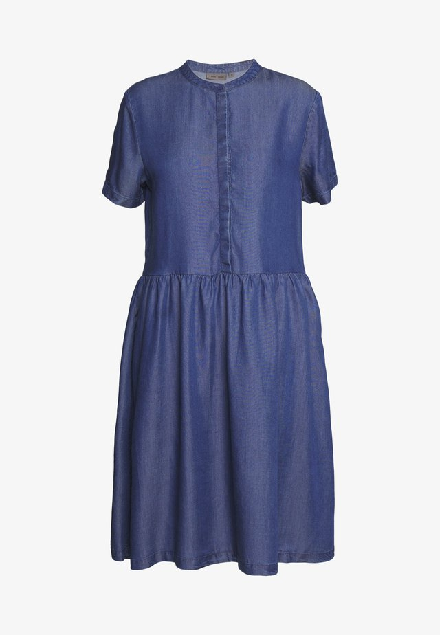 DRESS - Kjole - glossy blue denim
