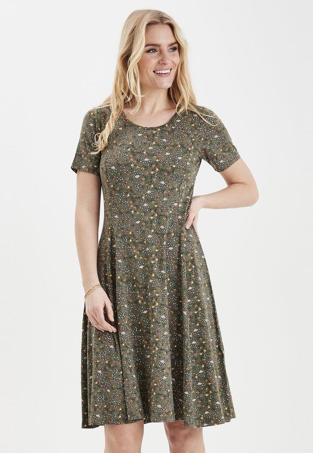 FRITDOTSA - Jerseyklänning - khaki