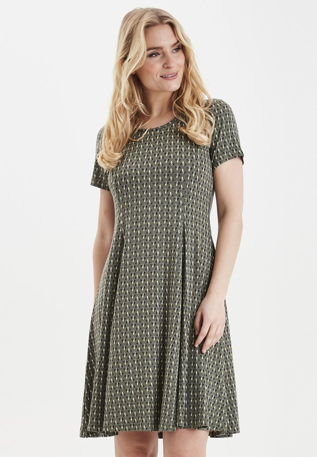 FRITDOT 1 DRESS - Jerseyklänning - hedge mix
