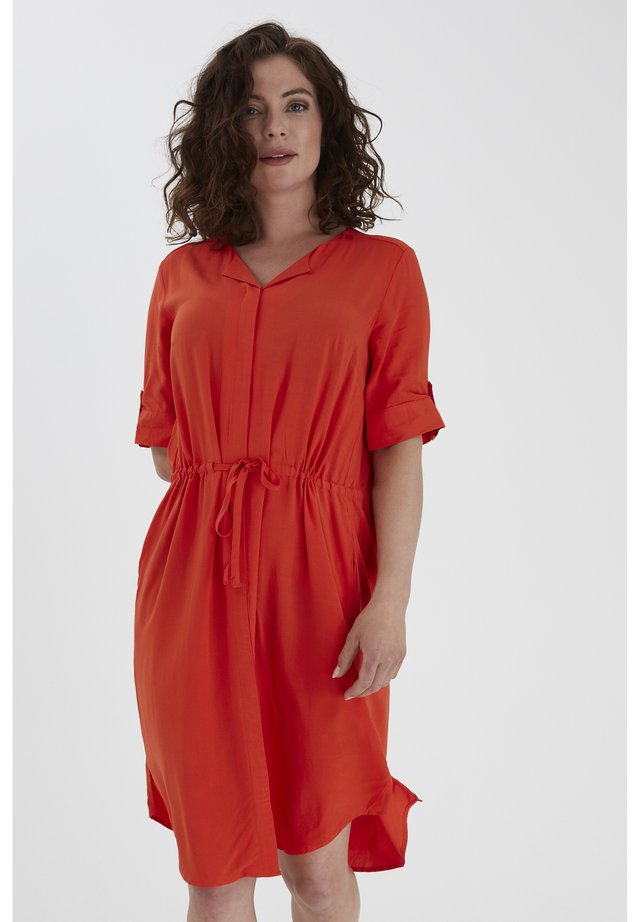 FRHAZAVISK 3 DRESS - Korte jurk - cherry tomato