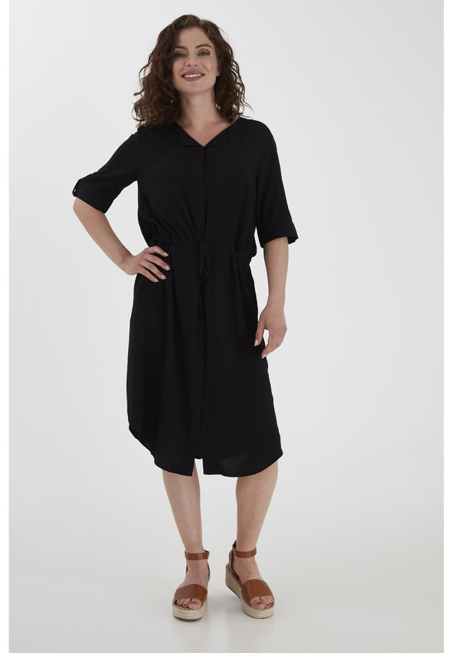 FRHAZAVISK 3 DRESS - Korte jurk - black