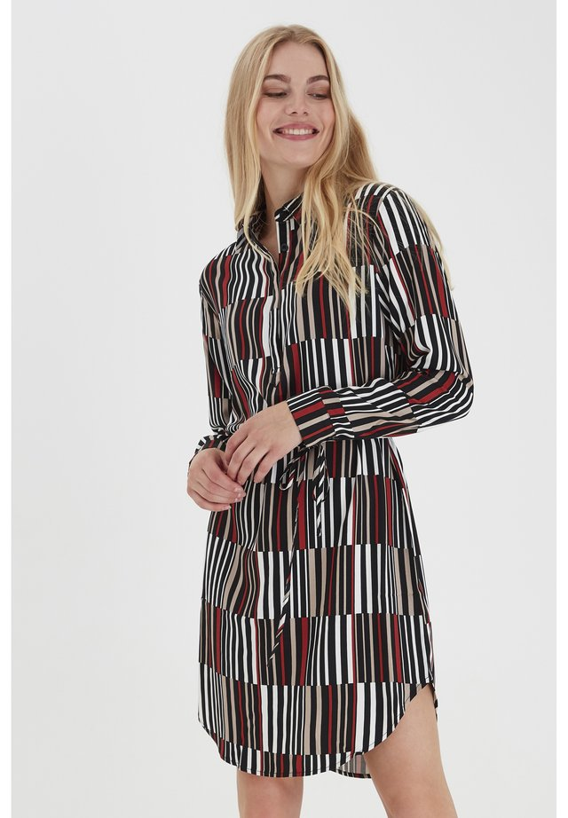 FRLASTRIPO - Shirt dress - barn red striped