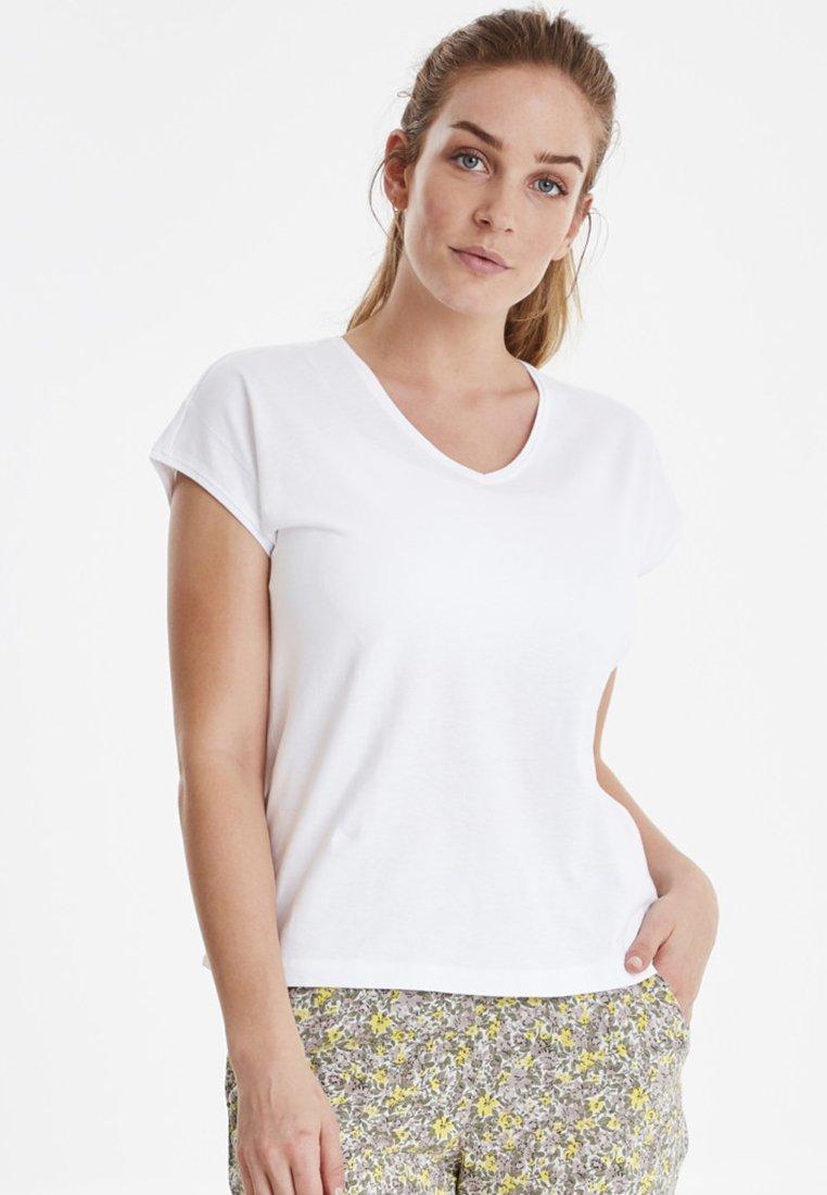 Fransa - FXSUMMER - T-shirt - bas - white