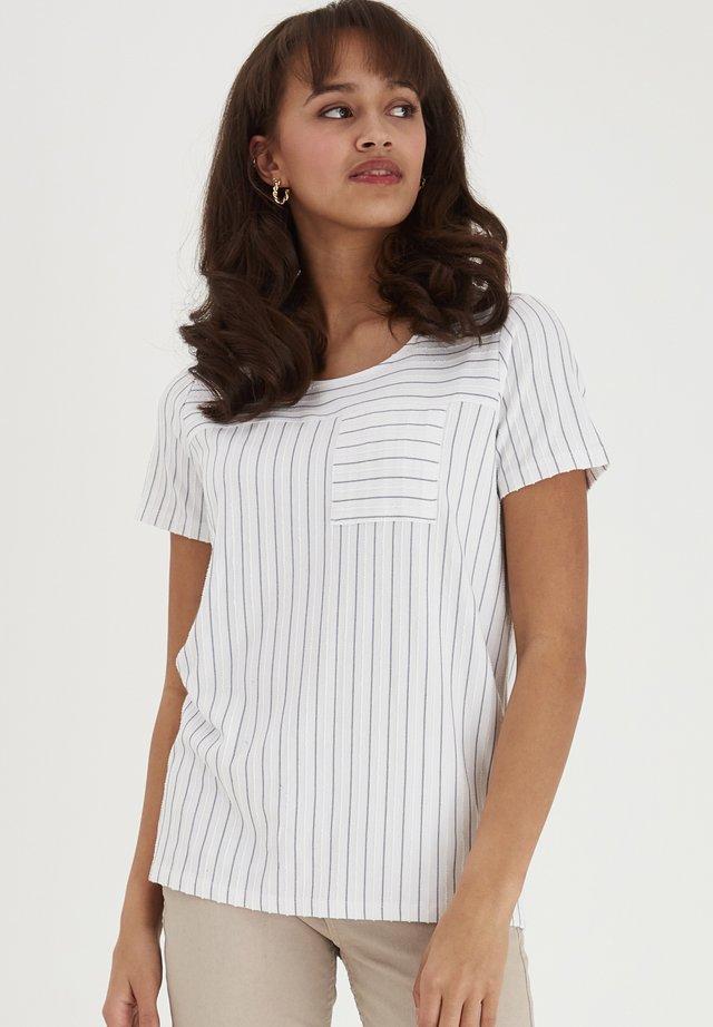 FRJEJACQ - T-shirt imprimé - white mix
