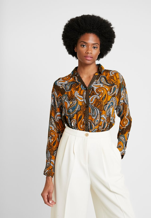 Button-down blouse - cathay spice