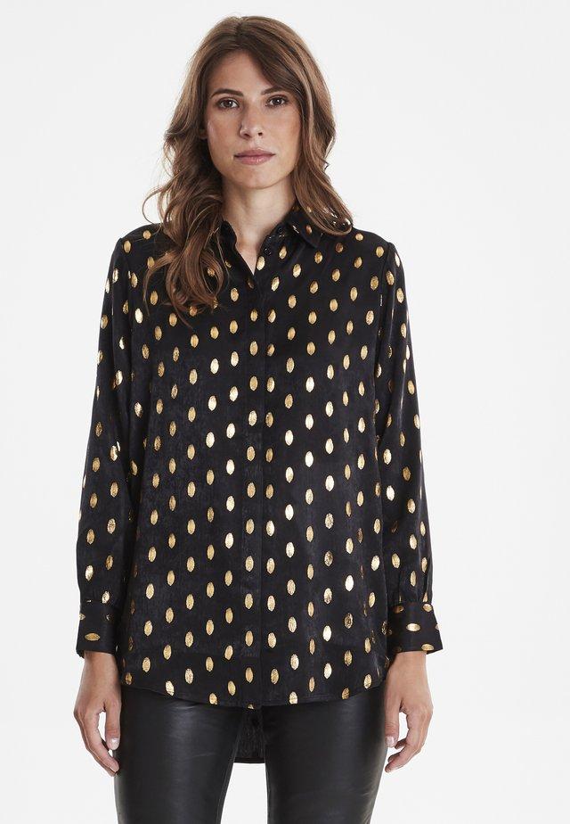 FRGAFOIL - Button-down blouse - black mix