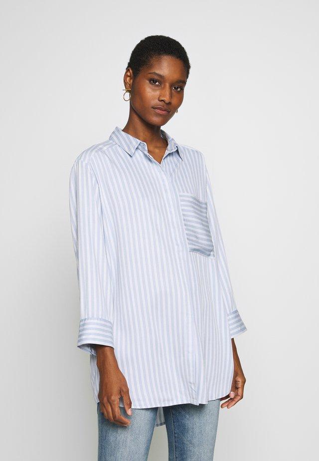 FRHACOMBI - Button-down blouse - brunnera blue mix