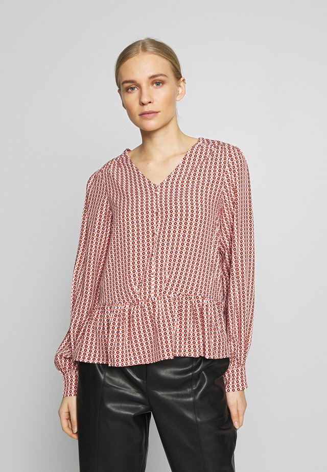 BLOUSE - Bluse - hot coral mix