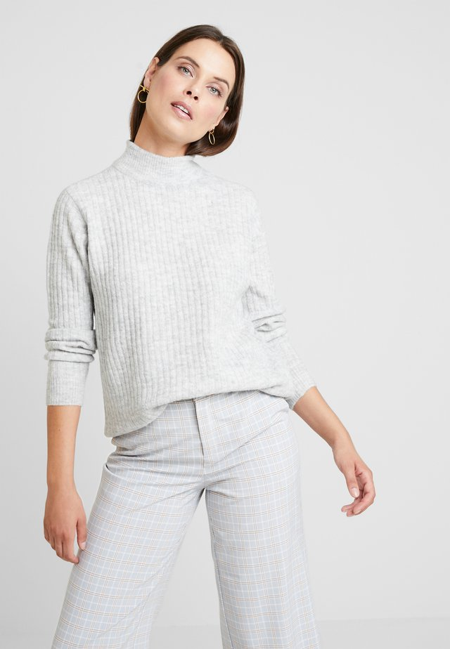 FRFIBLOCK - Strickpullover - light grey melange